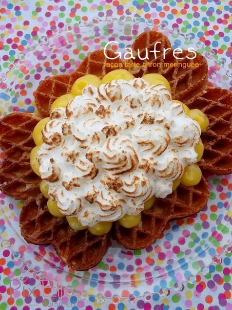 Gaufres façon tarte au citron meringuée (1)