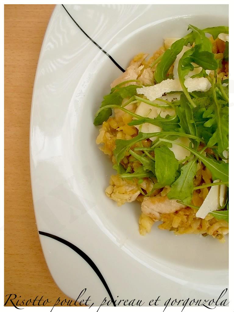 Risotto au poulet, poireau et gorgonzola3