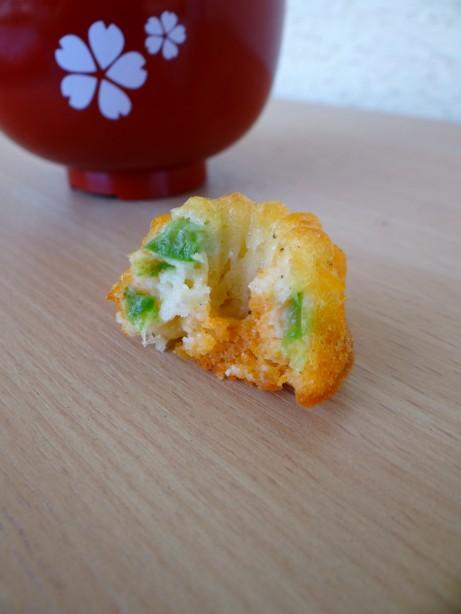 Mini-cakes chorizo, poivron et mozzarella