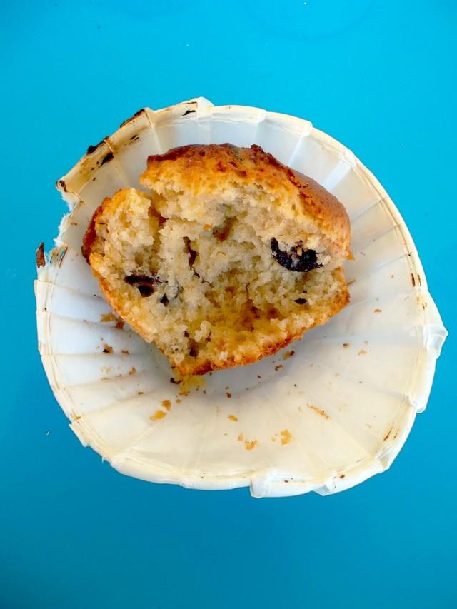 Muffins beurre de cacahu+¿tes et cranberries4