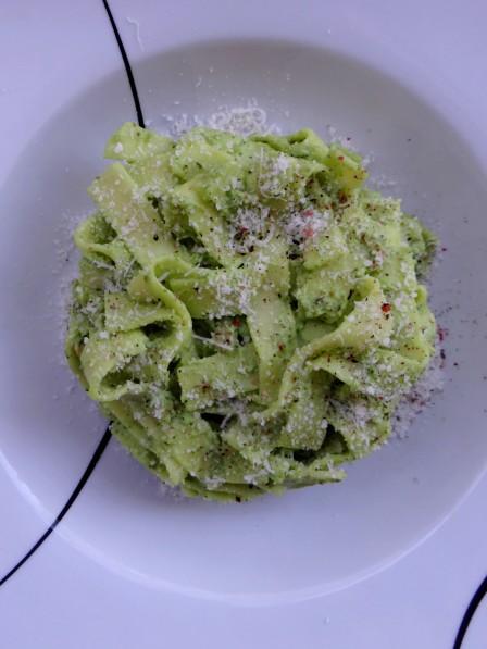 Tagliatelles +á la cr+¿me de brousse au brocoli et saumon2