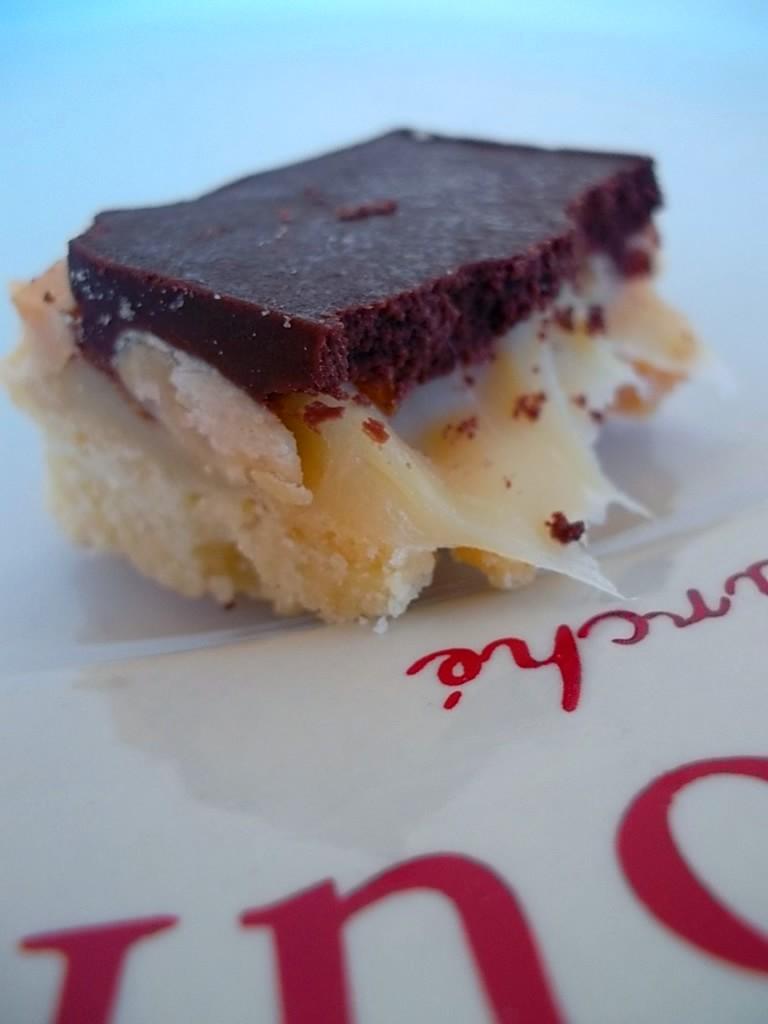Millionaire's shortbread aux cacahu+¿tes