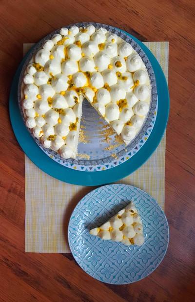 Cheesecake japonais, chantilly aux fruits de la passion 1