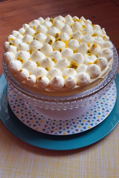 Cheesecake japonais, chantilly aux fruits de la passion HAUT3