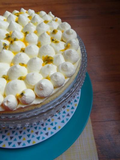 Cheesecake japonais, chantilly aux fruits de la passion HAUT6